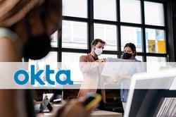 okta logo on office